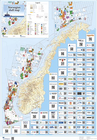 Norwegian Shelf Map 2019